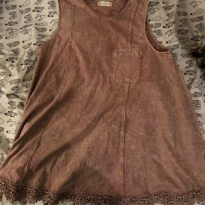 Distressed tunic top from Altar'd State